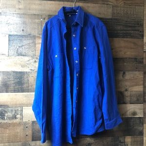 The Woolrich Woman Royal Blue Button Up